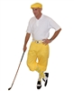 Yellow Knickers Flat Cap Argyle Socks and Polo