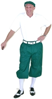 Men's Golf Outfit - Green Knickers, Cap & White Polo and Socks
