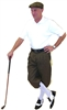 Men's Golf Outfit - Military Green with Flat Cap and White Polo and Socks