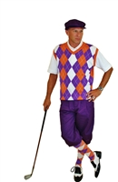 Clemson Purple Golf Knicker outfit