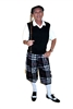 Black Plaid Golf Knickers with Black Sweater Vest