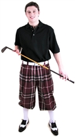 Maroon Plaid Golf Knickers