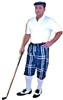 Navy Plaid Golf Knickers Outfit