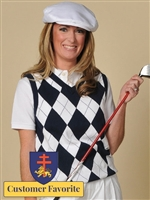 Women's Argyle Golf Sweater Vest