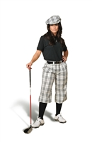 Golf knickers Ladies White Check
