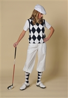 Women's Golf Outfit - Navy/White/Navy Overstitch