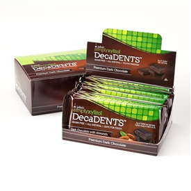 "Simply Xylitol DecaDENTSâ""¢ Dark Chocolate Bars with Almonds"