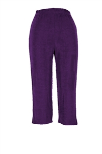 Capri pant - purple - acetate/spandex