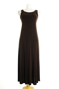 Long tank dress - brown - acetate/spandex