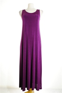 Long tank dress - purple - acetate/spandex