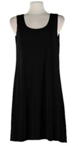 Short tank dress - black - polyester/spandex