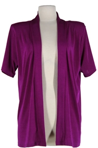 Short sleeve purple jacket - polyester/spandex