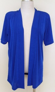 Short sleeve royal blue jacket - polyester/spandex