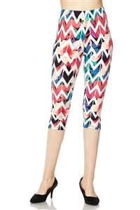 Capri leggings -  multicolor chevron