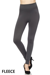 Fleece leggings - charcoal grey