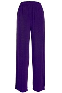 Pants - purple - acetate/spandex