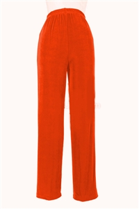 Pants - rust - acetate/spandex