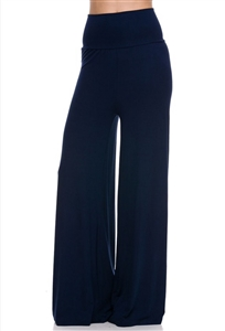 Palazzo pants - navy blue - polyester/spandex