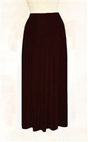 Gored skirt - brown - acetate/spandex