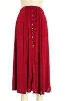 Button skirt - burgundy - polyester/spandex