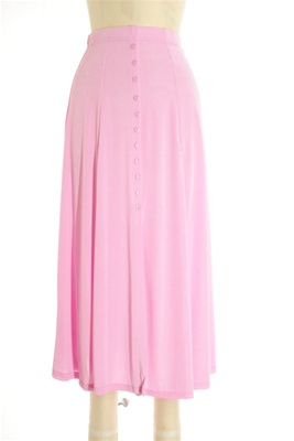 Button skirt - pink - polyester/spandex