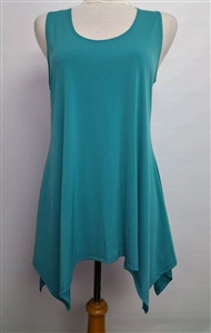 Two point tank top - jade - polyester/spandex