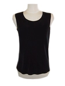 Tank top - black - acetate/spandex