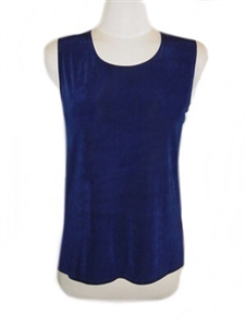 Tank top - navy - acetate/spandex