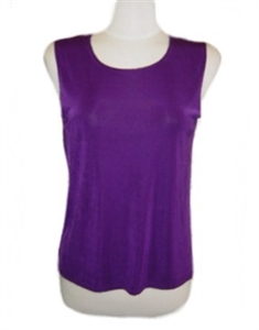Tank top - purple - acetate/spandex