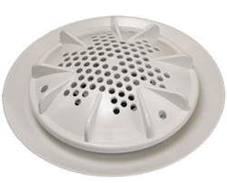 "A&A Manufacturing PDR2 10"" Main Drain No Sump - White (Set of 2) # 564738"