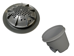 "A&A Manufacturing PDR2 10"" Main Drain Complete - Gray (Set of 2) # 564771"