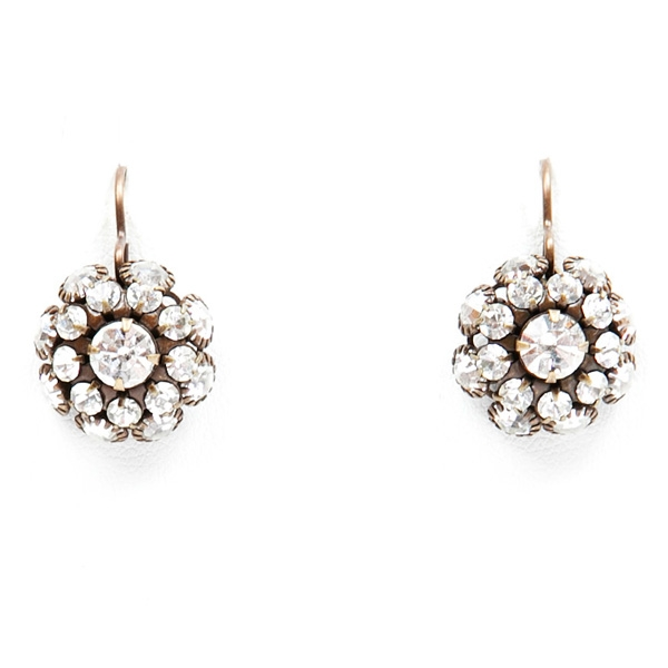 "Beautiful clear crystal Love Drop earrings that are sure to get noticed. 1.25"" drop."