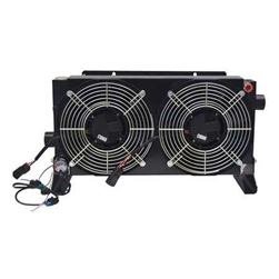 Oil-To-Air Cooler with Brushless 12 Volt DC-Motor