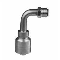 MIX90-W - SAE 45 Degree Inverted flare W Series - crimp hose fittings