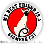 Siamese Cat Decal
