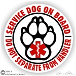 Service Dog Sticker or Static Cling Decal