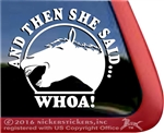 Laughing Horse Meme Equestrian Horse Trailer Window Decal Sticker