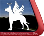 Great Dane Angel Dog Memorial Car Truck RV Window iPad Laptop Tablet Decal Sticker