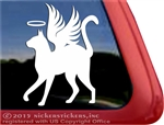 Custom Angel Memorial Kitty Cat Car Truck RV Window Decal Sticker