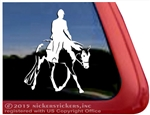 Custom American Paint Hunter Under Saddle Horse Trailer Car Truck RV Window Decal Sticker