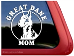 Harlequin Great Dane Mom Car Truck RV Window Decal Sticker