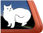 Custom Norwegian Forest Cat Vinyl Car Truck RV Window Decal Sticker