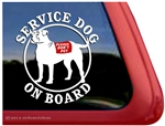 American Bulldog Service Dog Car Truck RV Window Decal Sticker