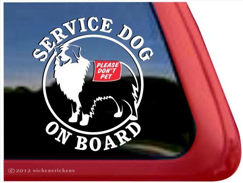 Service Dog Window Decals