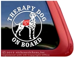 Dalmatian Therapy Dog Window Decal