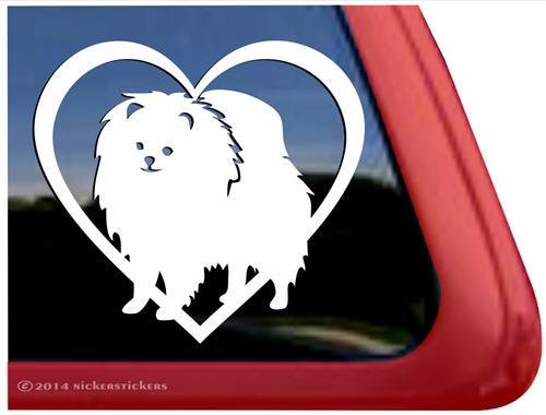 Pomeranian Dog Decals Amp Stickers Nickerstickers