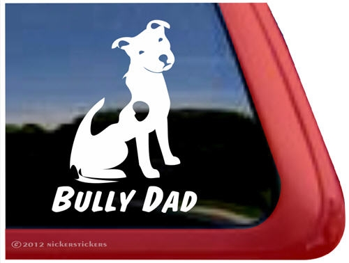 Bully Dad Pit Bull Terrier Decals Amp Stickers