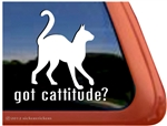 Cattitude Window Decal