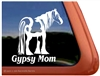 Gypsy Mare Horse Trailer  Window Decal