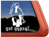 Gypsy Horse Trailer  Window Decal